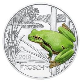 """Austria 3 Euro """"Frog"""" 2018"""