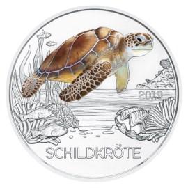 """Oostenrijk 3 Euro """"Schildpad"""" 2019"""