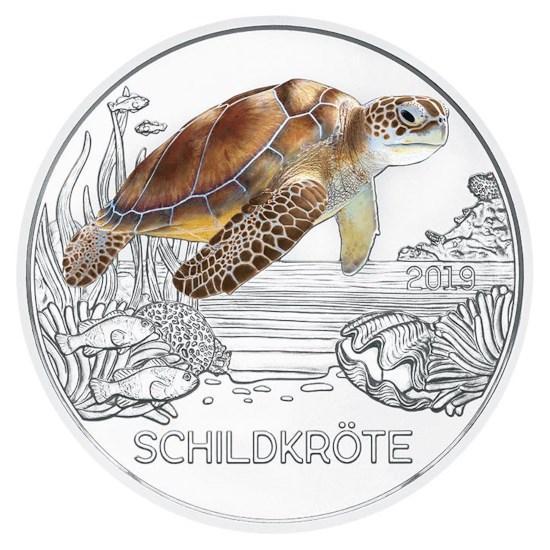 """Austria 3 Euro """"Turtle"""" 2019"""