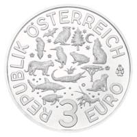 """Austria 3 Euro """"Otter"""" 2019"""