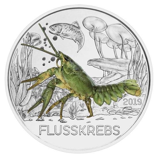 """Oostenrijk 3 Euro """"Rivierkreeft"""" 2019"""