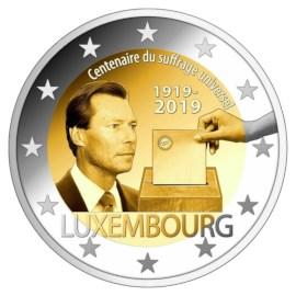 Luxembourg 2 euros « Droits de vote » 2019