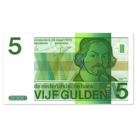 """5 Gulden """"Vondel"""" 1973 UNC"""