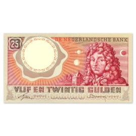 """25 Gulden """"Huygens"""" 1955 PR"""