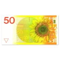 """50 Gulden """"Zonnebloem"""" 1982 UNC"""