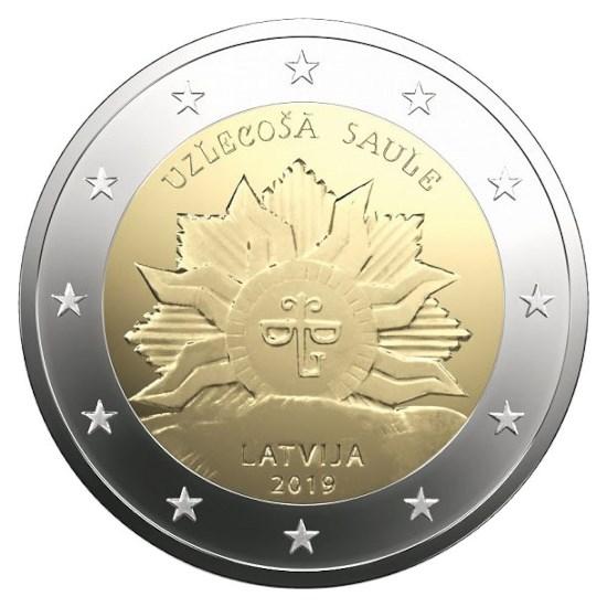 """Latvia 2 Euro """"Rising Sun"""" 2019"""