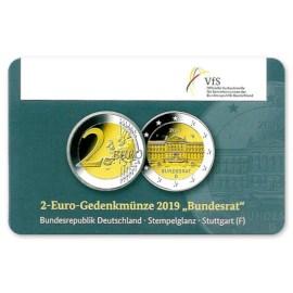 "Duitsland 2 Euro ""Bundesrat"" 2019 Coincard ""F"""