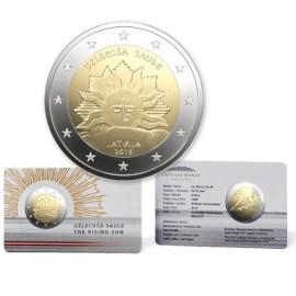 """Letland 2 Euro """"Opkomende Zon"""" 2019 BU Coincard"""