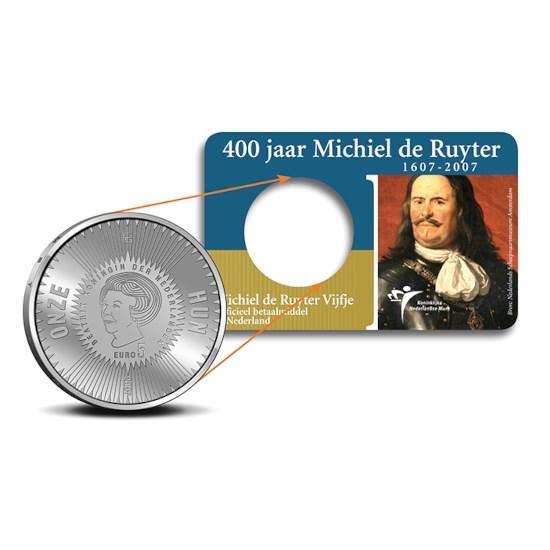 5 Euro 2007 Michiel de Ruyter UNC Coincard