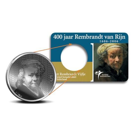 5 Euro 2006 Rembrandt UNC Coincard