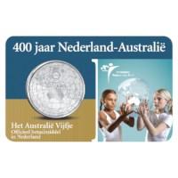5 Euro 2006 Nederland-Australië UNC Coincard