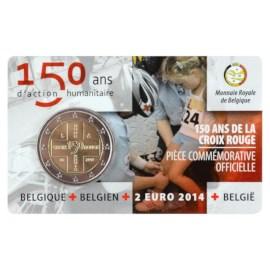 "België 2 Euro ""Rode Kruis"" 2014 Coincard FR"