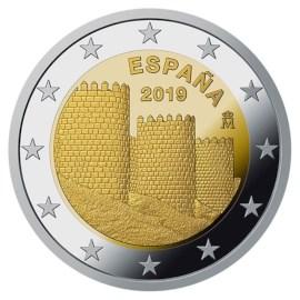 """Spanje 2 Euro """"Avila"""" 2019"""