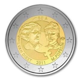 """België 2 Euro """"100 jaar Internationale Vrouwendag"""" 2011"""