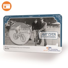 Jaap Eden Cycling Medal in coincard