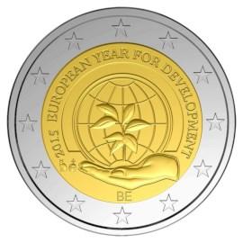 """België 2 Euro """"Ontwikkeling"""" 2015 UNC"""