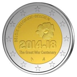 "België 2 Euro ""WW I"" 2014 UNC"
