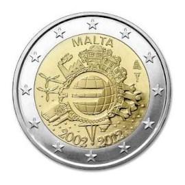 """Malta 2 Euro """"10 Jaar Euro"""" 2012"""