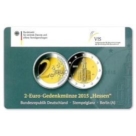 "Duitsland 2 Euro ""Hessen"" 2015 Coincard ""A"""