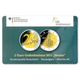 """Duitsland 2 Euro """"Hessen"""" 2015 Coincard """"D"""""""