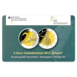 """Duitsland 2 Euro """"Hessen"""" 2015 Coincard """"F"""""""
