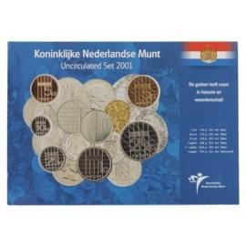 Jaarset Nederland guldenmunten 2001 UNC