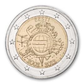 "Estland 2 Euro ""10 Jaar Euro"" 2012"
