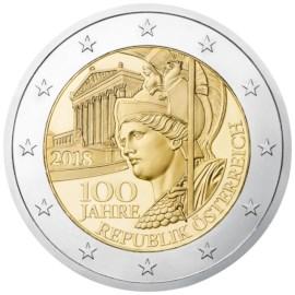 """Oostenrijk 2 Euro """"100 Jaar Republiek"""" 2018"""