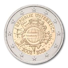 """Oostenrijk 2 Euro """"10 Jaar Euro"""" 2012"""
