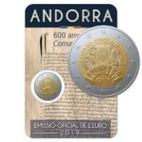 "Andorra 2 Euro ""Consell de la Terra"" 2019"
