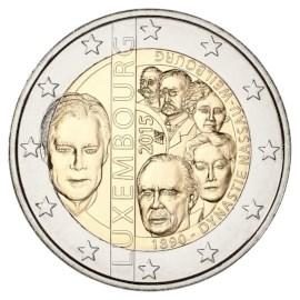 "Luxemburg 2 Euro ""Dynastie"" 2015 UNC"