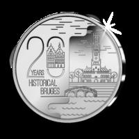 20 euros « Bruges - Centre-ville historique 20 ans de patrimoine mondial »  Belle-épreuve en argent