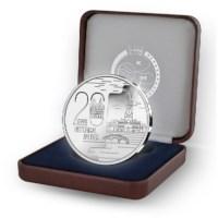 20 euro '20 jaar historische binnenstad Brugge werelderfgoed' Zilver Proof