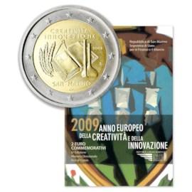 """San Marino 2 Euro """"Creativiteit"""" 2009"""