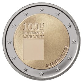 """Slovenië 2 Euro """"Universiteit"""" 2019 UNC"""