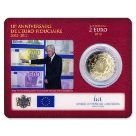 """Luxemburg 2 Euro """"10 Jaar Euro"""" 2012 Coincard"""