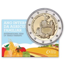 """Portugal 2 Euro """"Agricultura"""" 2014 Proof"""