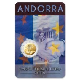 """Andorra 2 Euro """"Douane-Unie"""" 2015 BU Coincard"""