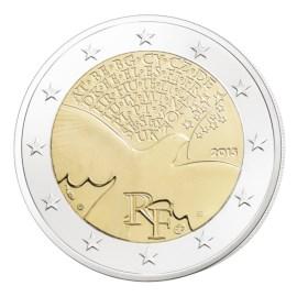 """Frankrijk 2 Euro """"70 Jaar Vrede"""" 2015 UNC"""