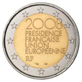 """Frankrijk 2 Euro """"EU Voorzitter"""" 2008"""