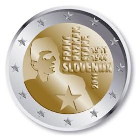 """Slovenië 2 Euro """"Franc Rozman"""" 2011"""