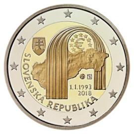 "Slowakije 2 Euro ""25 Jaar Republiek"" 2018"