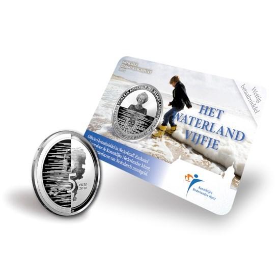 5 Euro 2010 Waterland UNC Coincard