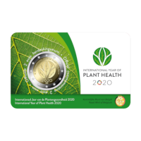 2 euro commemorative coin Belgium 2020 'International year of plant health' BU in coincard - NL