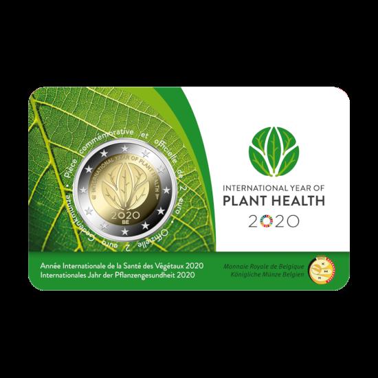 2 euromunt België 2020 'Internationaal jaar van de plantengezondheid' BU in coincard FR