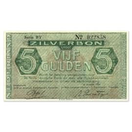 """5 Gulden """"Zilverbon"""" 1944 UNC"""