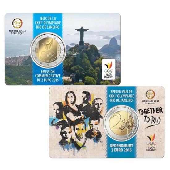 Belgique 2 euros « Rio » 2017 Coincard FR