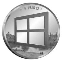 5 Euro 2011 Schilderkunst UNC Coincard