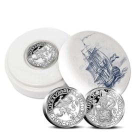 Officiële Herslag: Leeuwendaalder 2020 Zilver 2 Ounce - Royal Delft editie