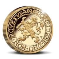 Officiële Herslag: Leeuwendaalder 2020 Goud 2 Ounce - Royal Delft editie